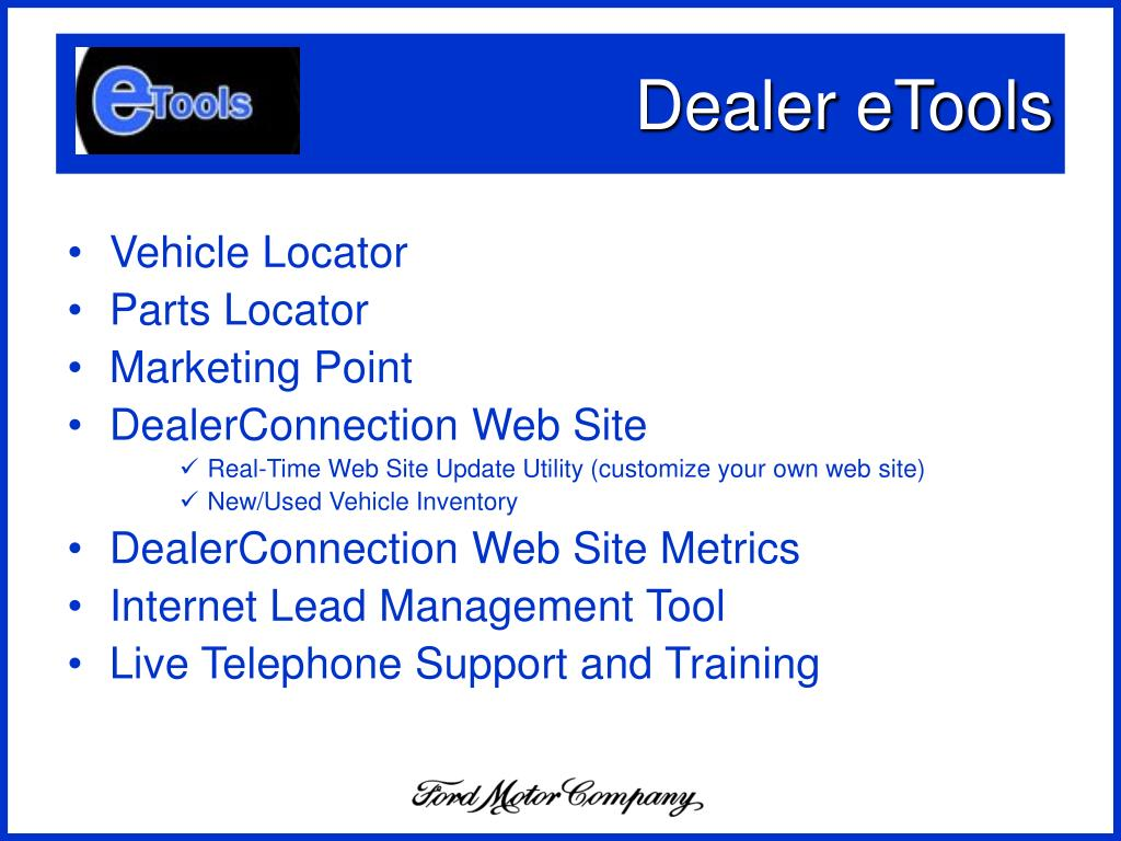 Dealer eTools