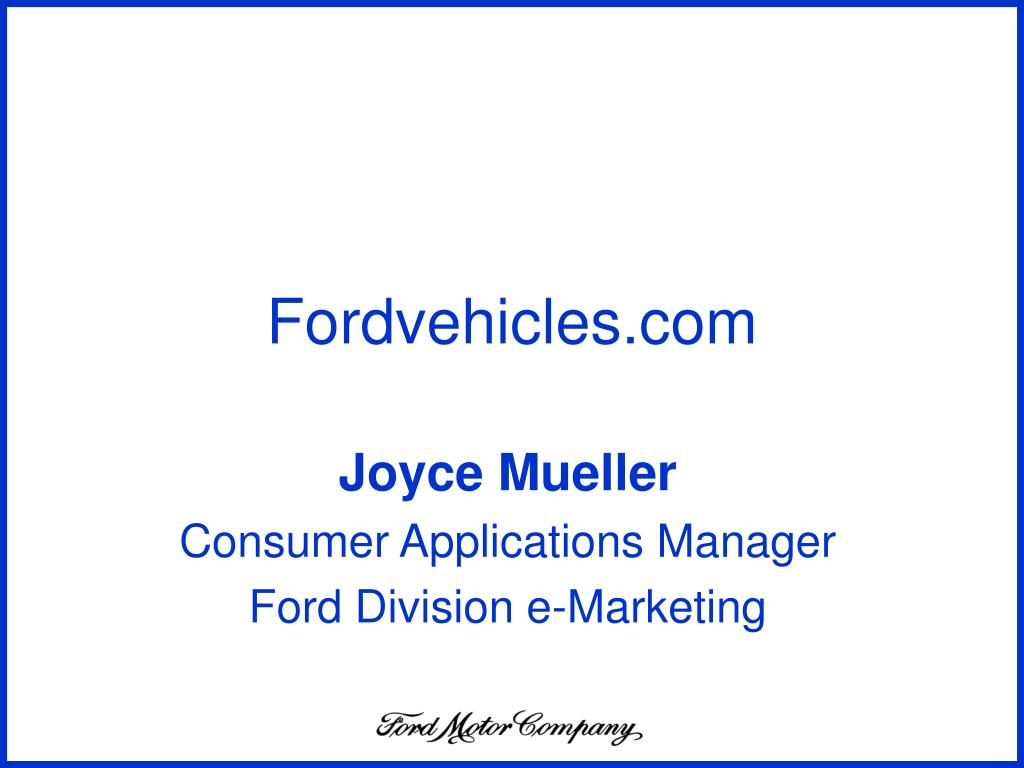 Fordvehicles.com
