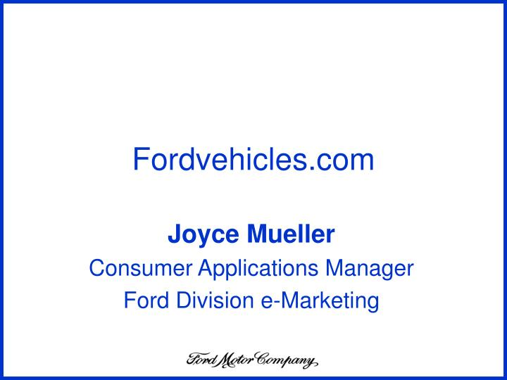 Fordvehicles com