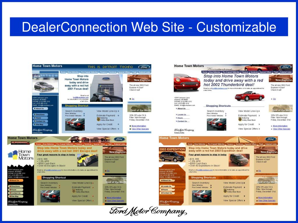 DealerConnection Web Site - Customizable