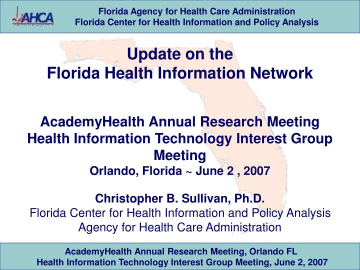 florida agency for health care administration essay Home » peer review statutes by state » florida peer review statute to the department of health or the agency for health care administration florida.