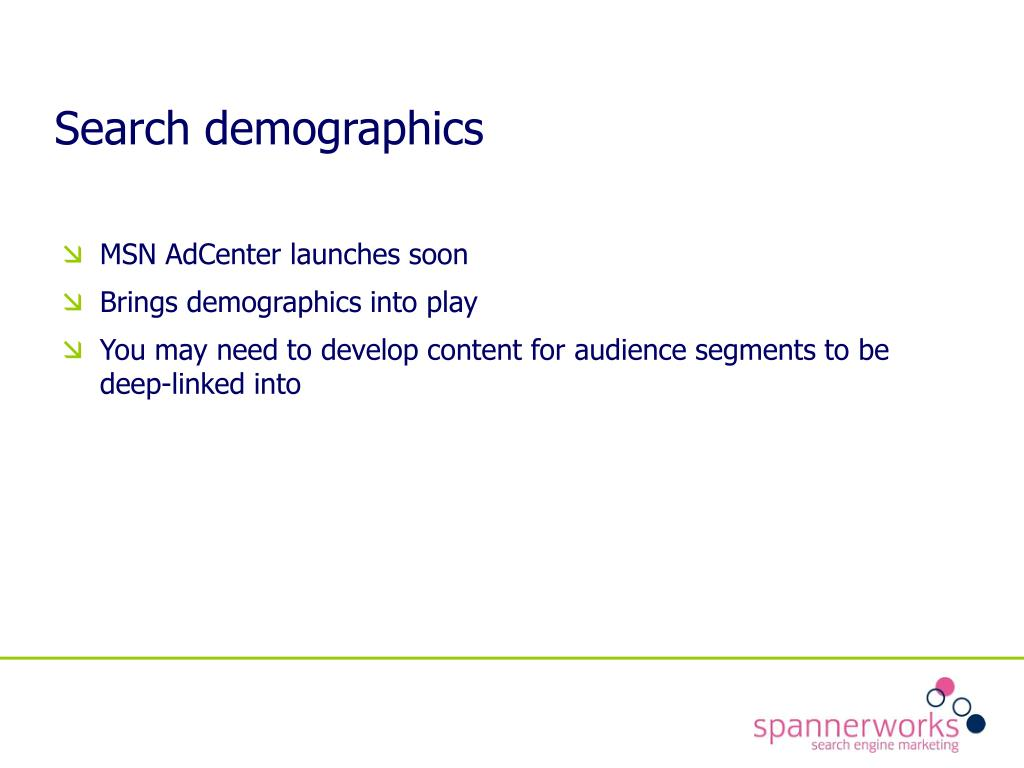 Search demographics