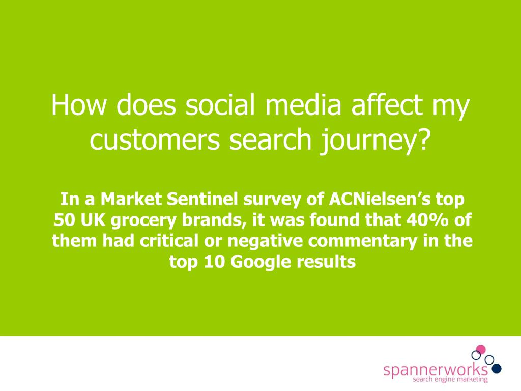 How does social media affect my customers search journey?