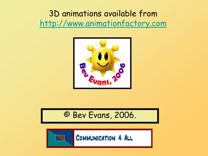 3D animations available from