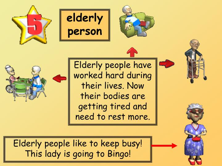 elderly person