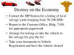 destroy on the economy