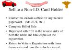 sell to a non i d card holder