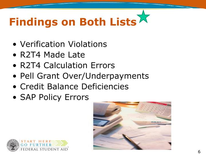 Findings on Both Lists