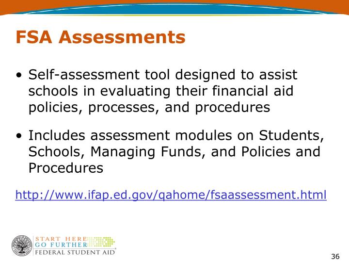 FSA Assessments
