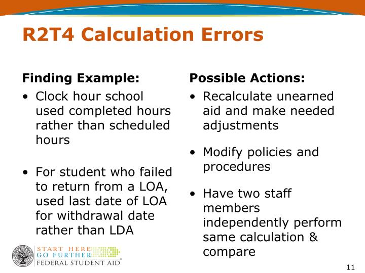 R2T4 Calculation Errors