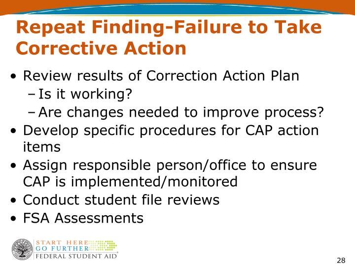Repeat Finding-Failure to Take