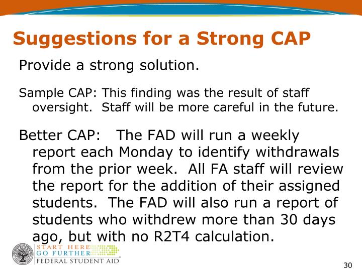 Suggestions for a Strong CAP