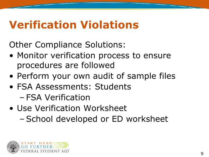 Verification Violations
