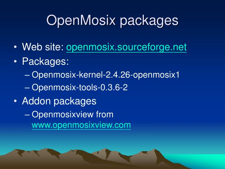 OpenMosix packages