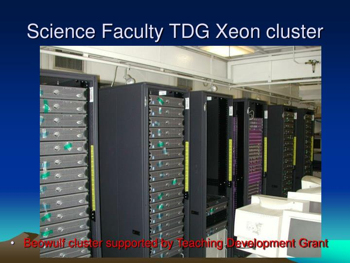 Science Faculty TDG Xeon cluster