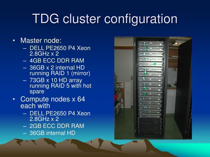 TDG cluster configuration