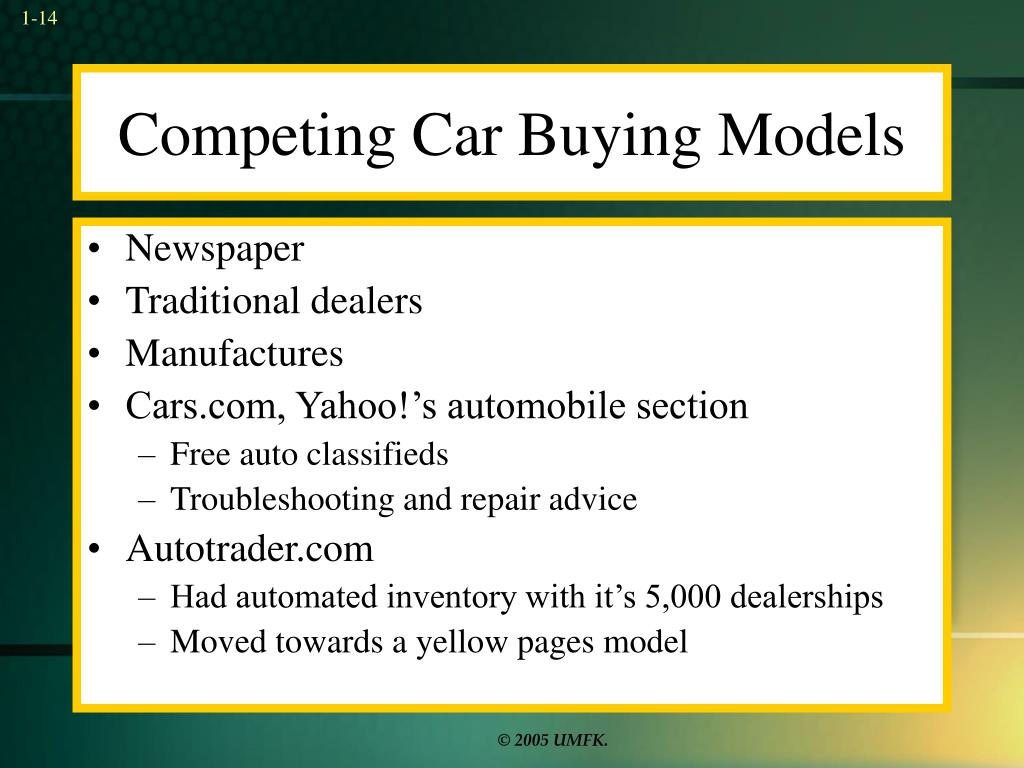 Competing Car Buying Models