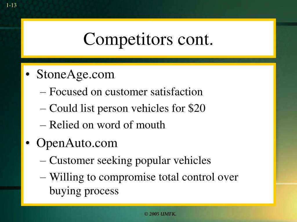 Competitors cont.