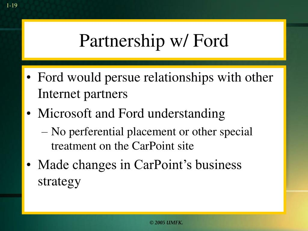 Partnership w/ Ford