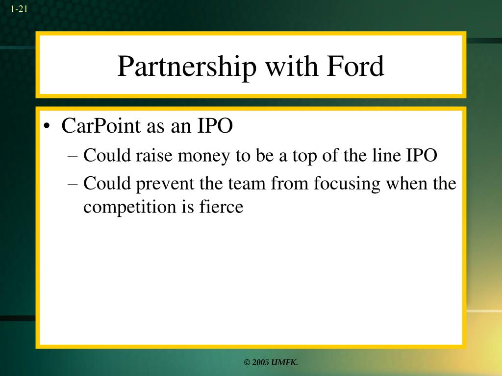Partnership with Ford