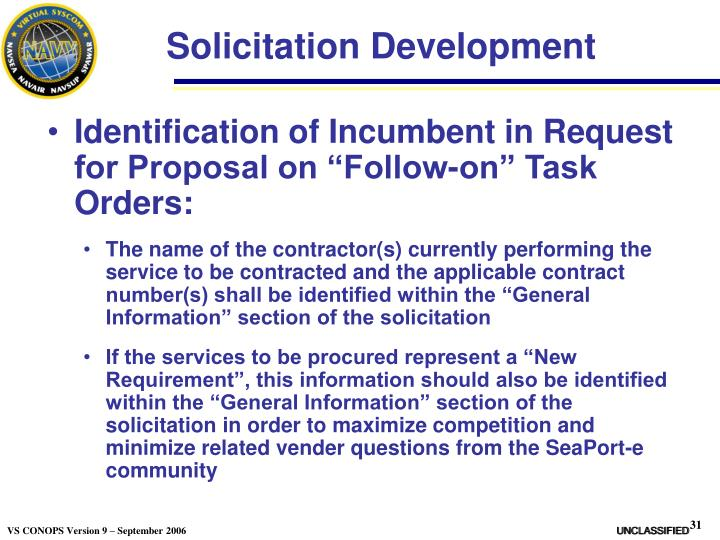 Solicitation Development