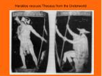 herakles rescues theseus from the underworld