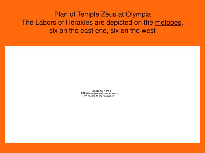 Plan of Temple Zeus at Olympia