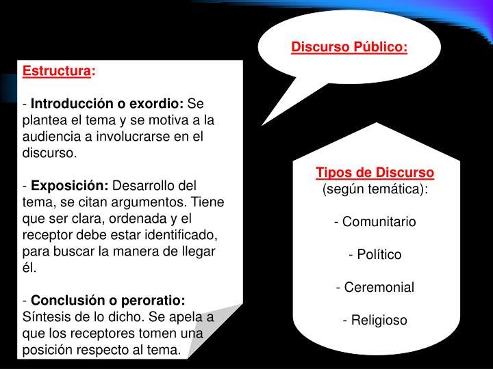 Discurso Público: