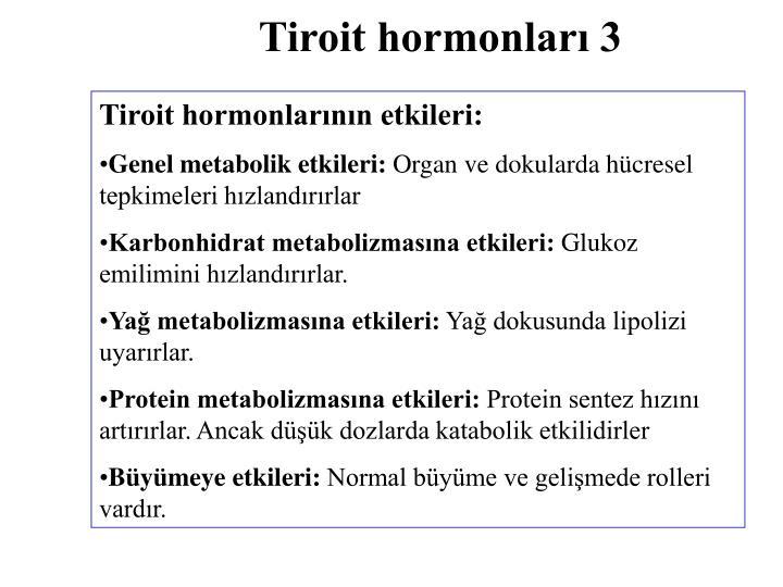 Tiroit hormonları 3