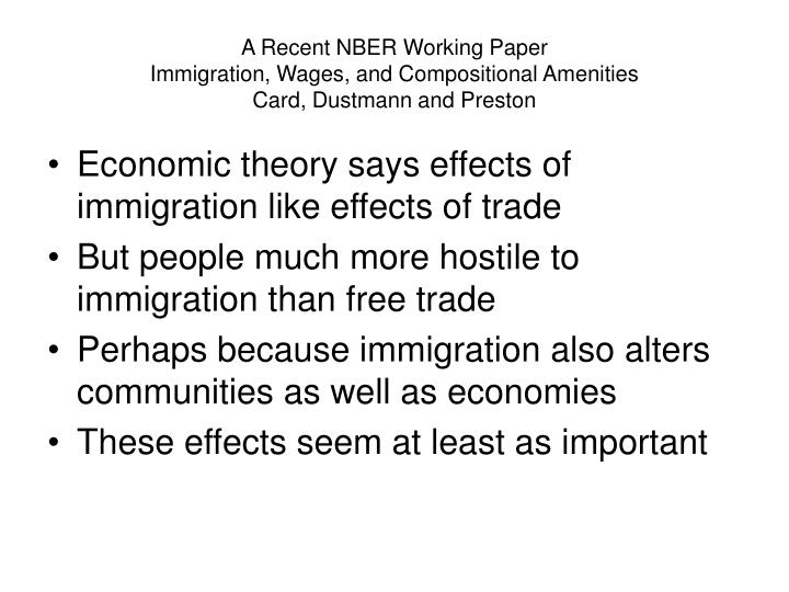 A Recent NBER Working Paper