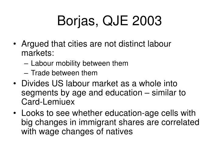 Borjas, QJE 2003