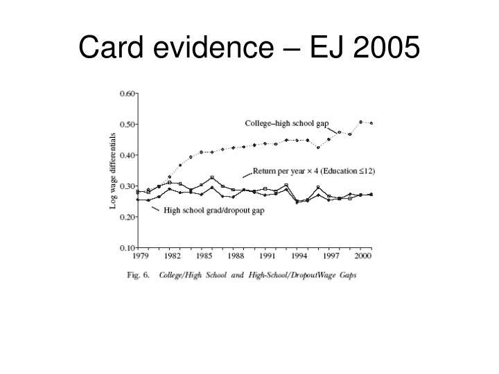 Card evidence – EJ 2005