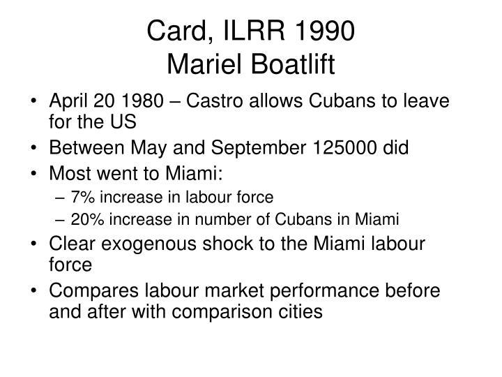 Card, ILRR 1990