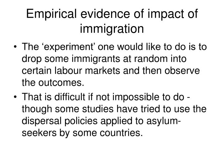 Empirical evidence of impact of immigration