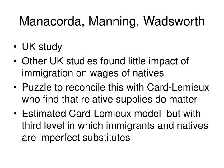 Manacorda, Manning, Wadsworth