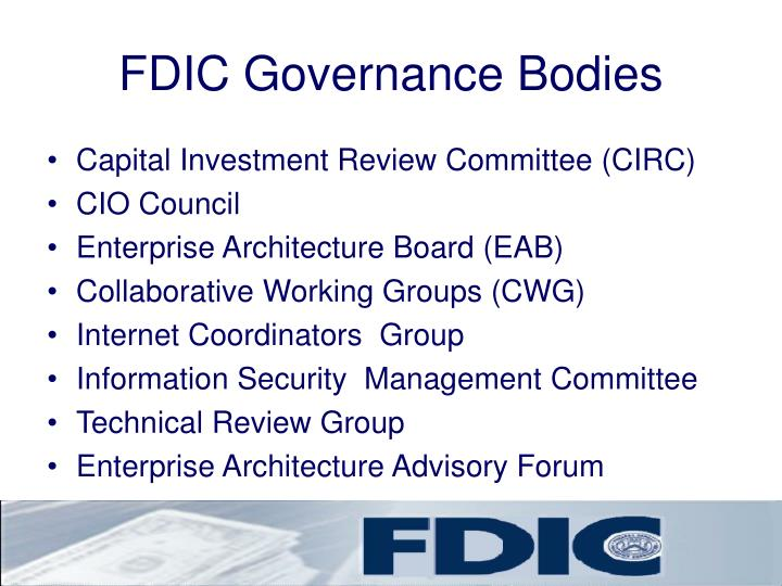 FDIC Governance Bodies