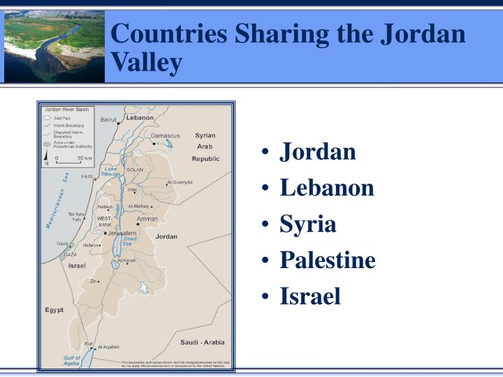 Countries Sharing the Jordan Valley
