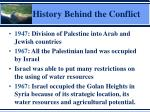history behind the conflict1