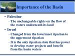importance of the basin1
