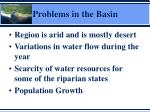 problems in the basin