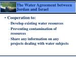 the water agreement between jordan and israel1