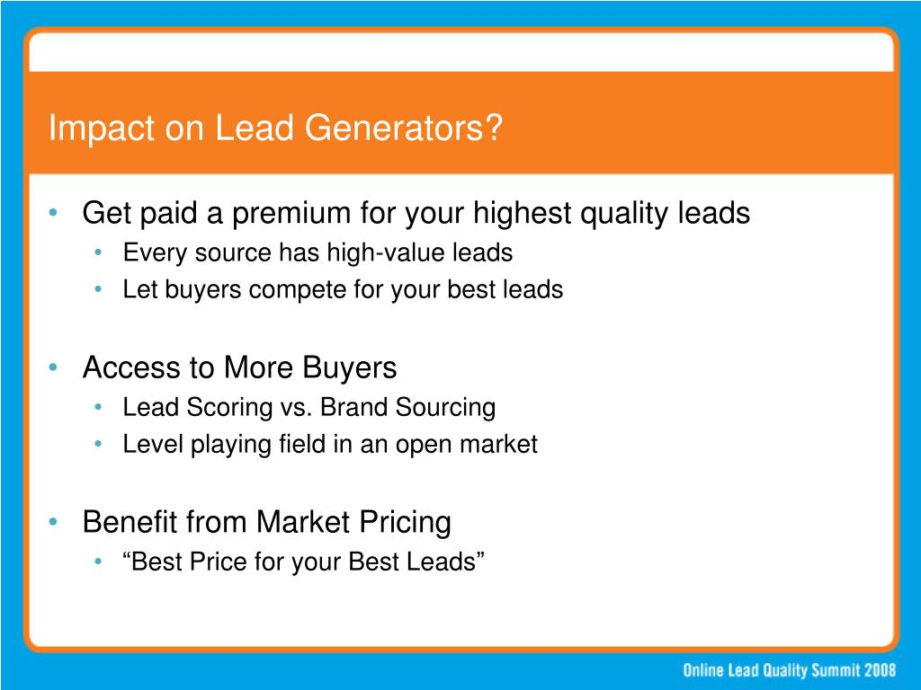 Impact on Lead Generators?