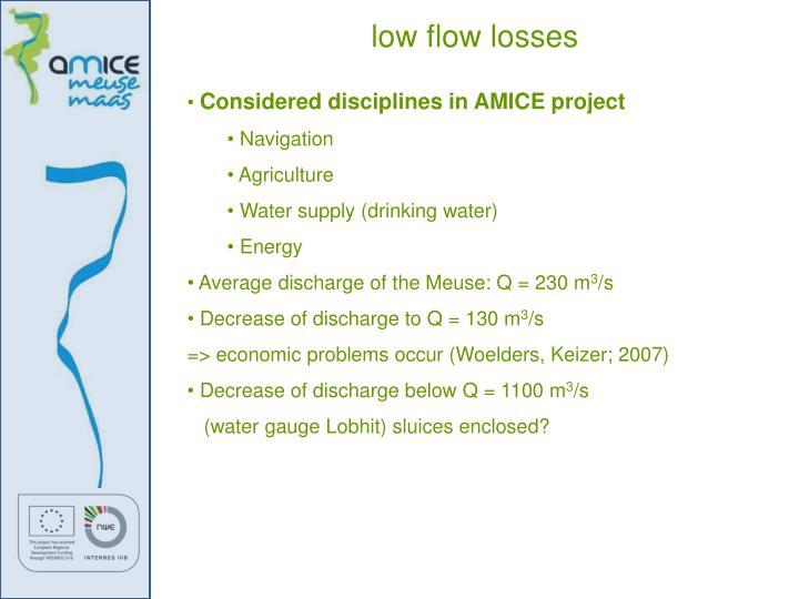 low flow losses