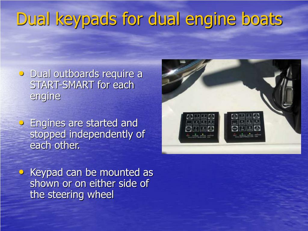Dual keypads for dual engine boats