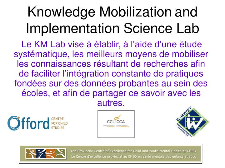 Knowledge Mobilization