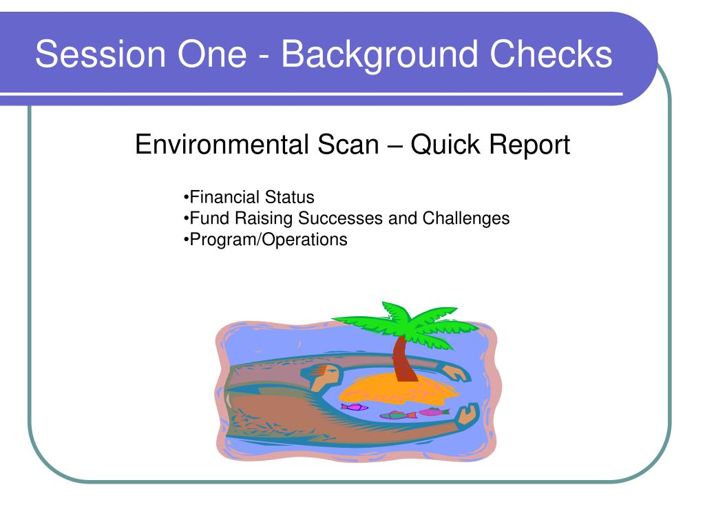Session One - Background Checks