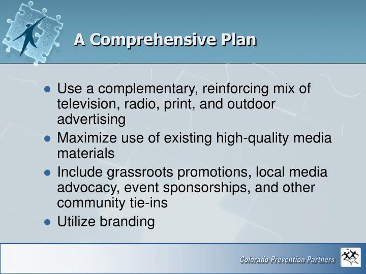 A Comprehensive Plan