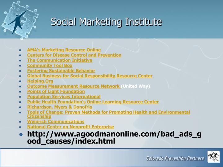 Social Marketing Institute