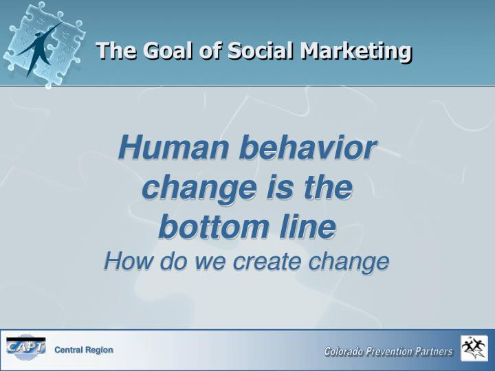The Goal of Social Marketing