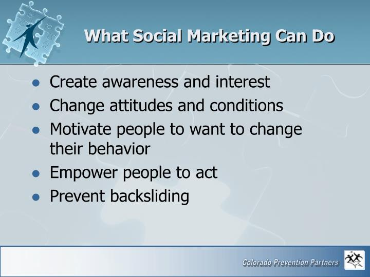 What Social Marketing Can Do
